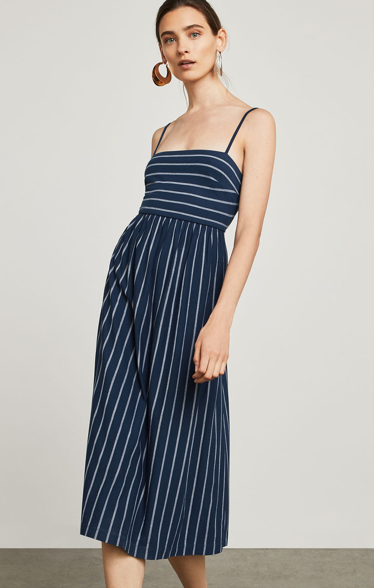 BCBGMAXAZRIA: Vintage Stripe Twist-Back Dress