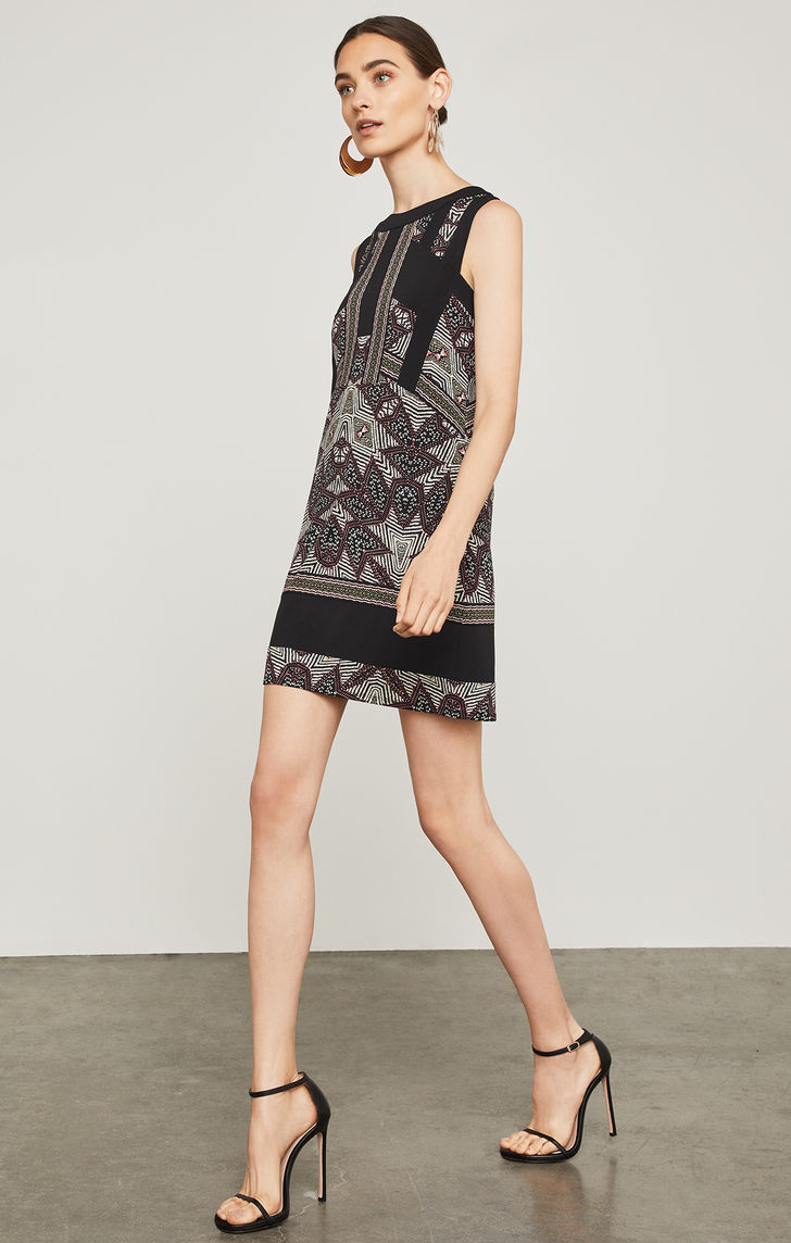 BCBGMAXAZRIA: Desert Geo Color-Blocked Dress