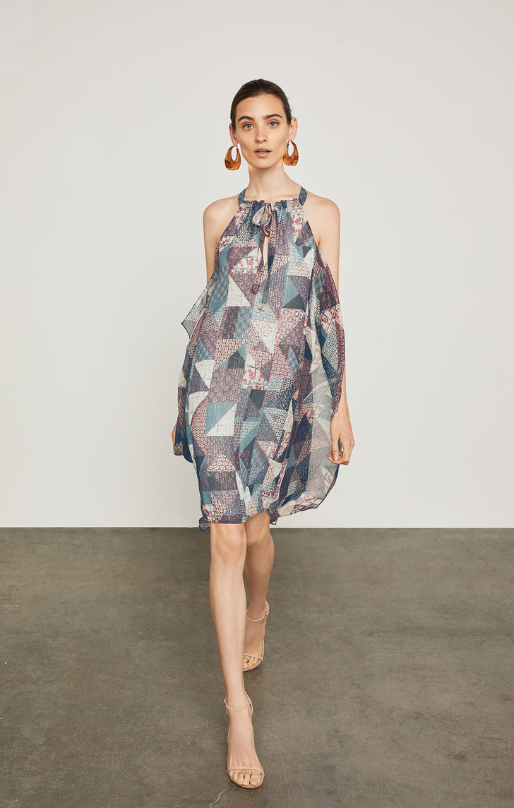 BCBGMAXAZRIA: Pottery Patchwork Handkerchief Dress