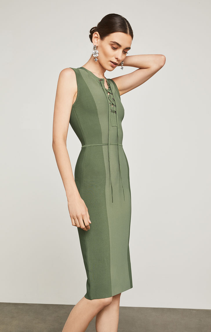 BCBGMAXAZRIA: Safari Body Con Dress