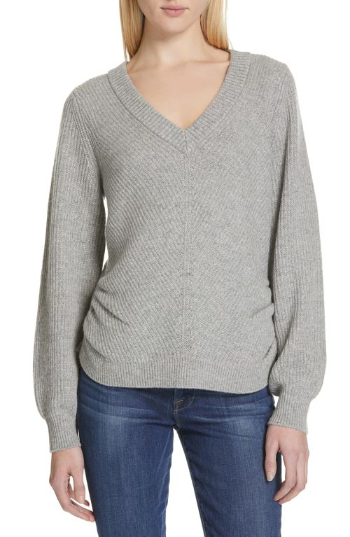 NORDSTROM: Ruched Wool & Cashmere Sweater