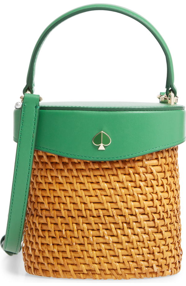 NORDSTROM: mini rose rattan bucket bag