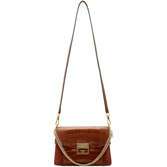 "Givenchy: Brown Small GV3 Bag<span class=""productModel"">[192278F048028]</span>   by  <a href=""https://www.dresseye.me/catalog/index.php?storeid=1"">VogueAll</a>"