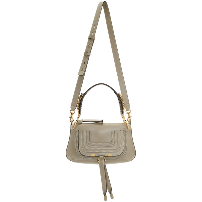 Chloé: Grey Marcie Saddle Bag
