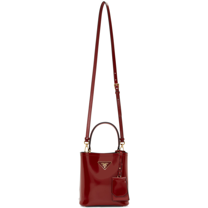 Prada: Red Small Double Bag