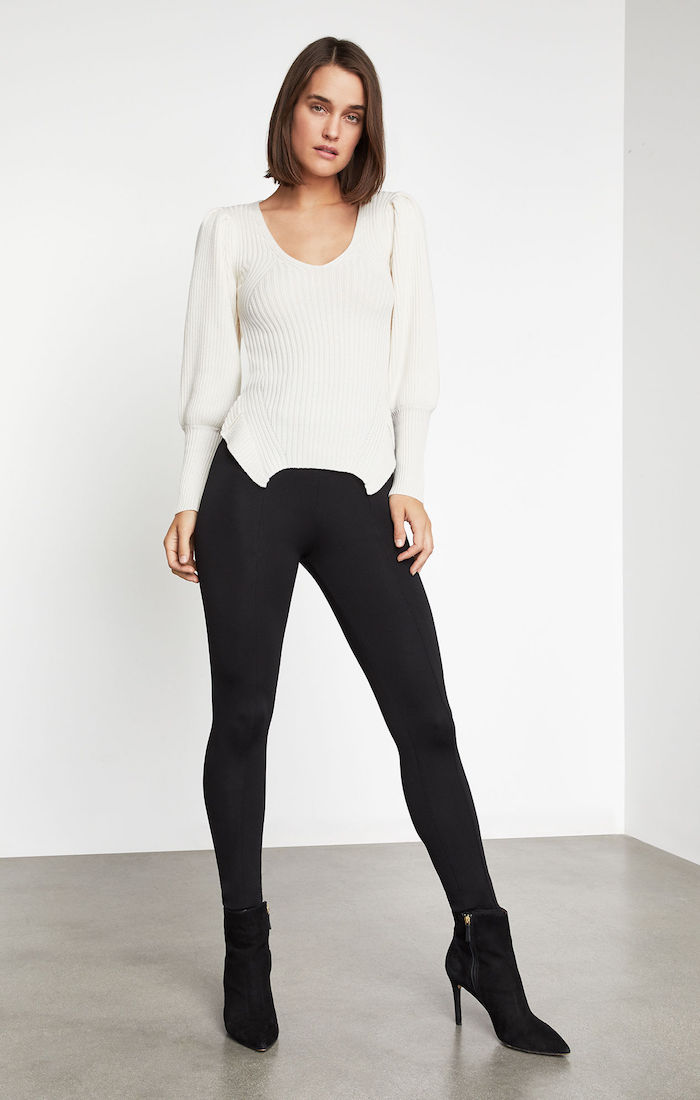 BCBGMAXAZRIA: High-Low Peplum Sweater