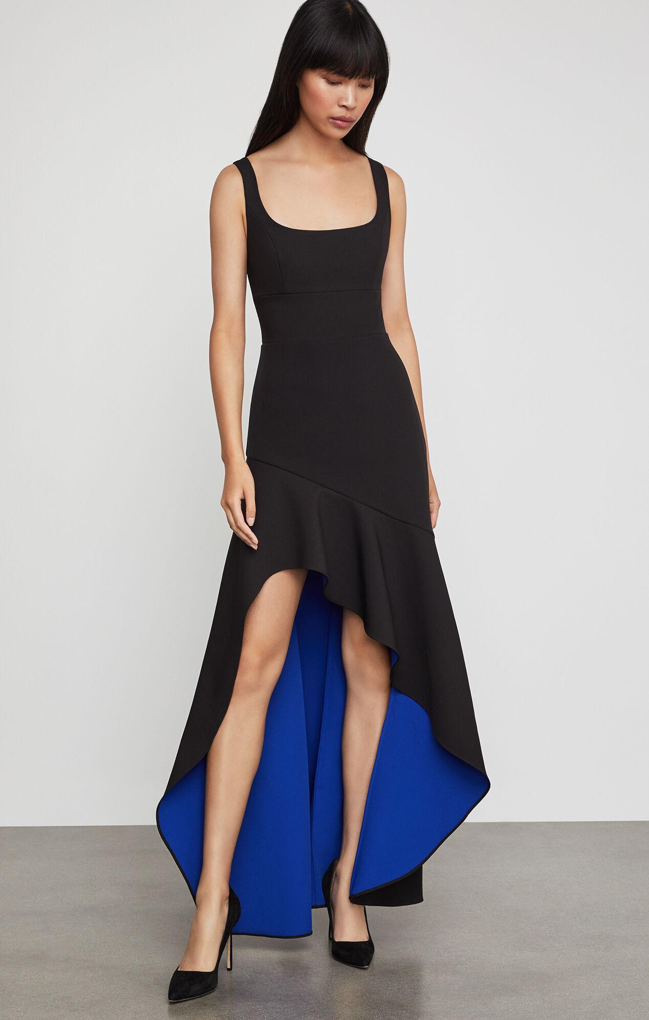 BCBGMAXAZRIA: Asymmetric Flare Gown