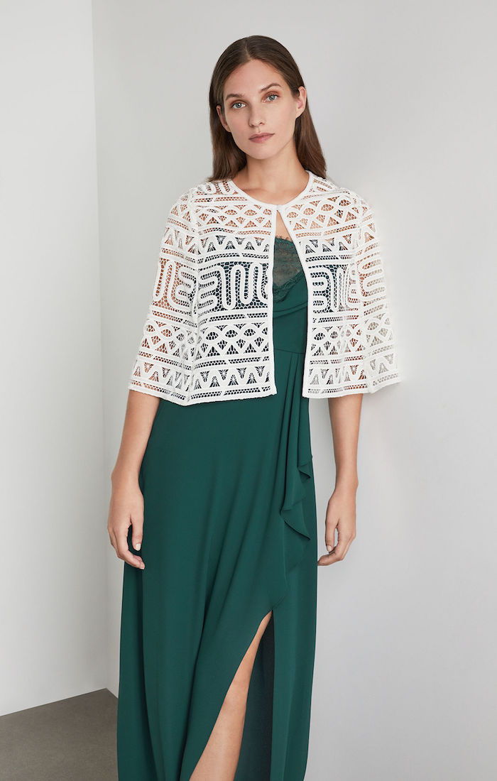 BCBGMAXAZRIA: Cropped Lace Cape