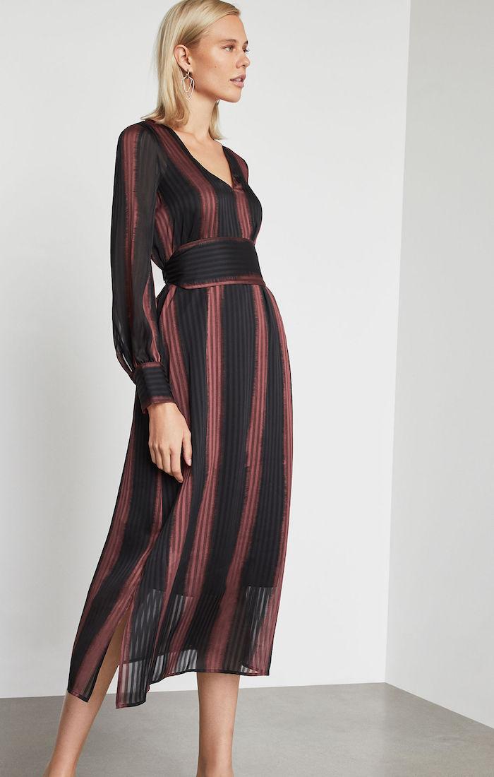 BCBGMAXAZRIA: Ombre Stripe Shift Dress