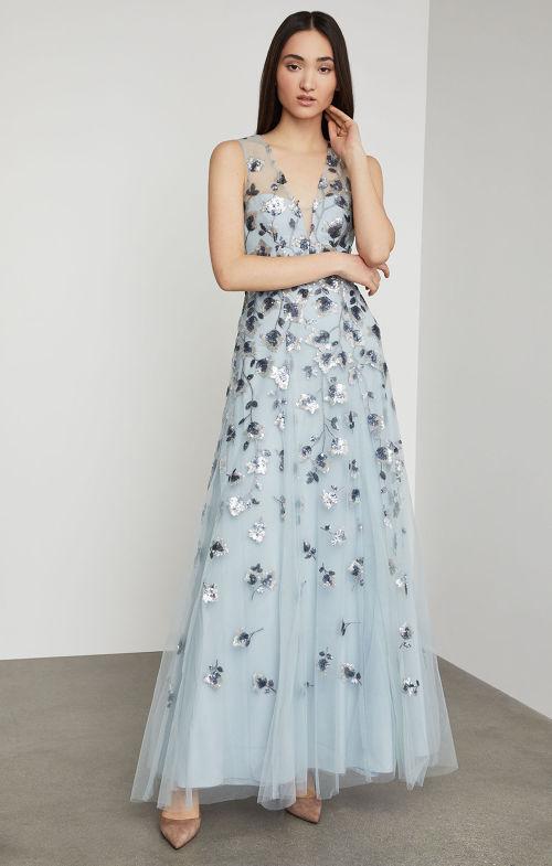 BCBGMAXAZRIA: Tulip Vine Sequin Gown