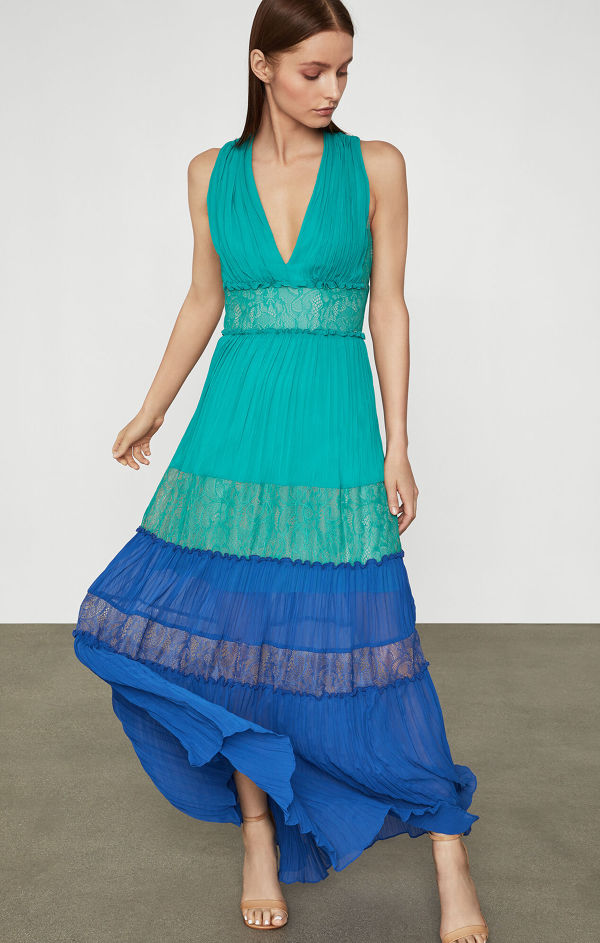 BCBGMAXAZRIA Chiffon Larkspur Dress