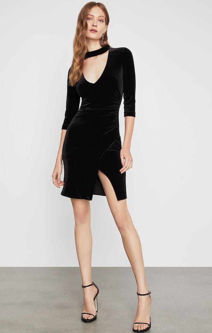 BCBGMAXAZRIA: Velvet Choker Sheath Dress